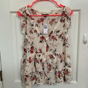 American Eagle floral tank top NWT